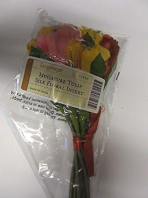 - Longaberger Mini May Series Miniature Tulip  Basket Silk Floral