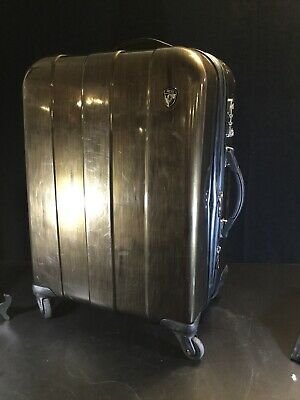 "HEYS SMART LUGGAGE 24"" X 11"" X 17"" EXPANDABLE HARDSIDE SPINNER SUITCASE Bronze"