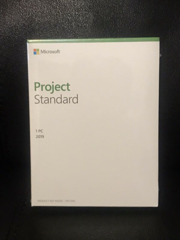 Brand New Sealed Box Microsoft Project Standard 2019 Product Key Code 076-05795