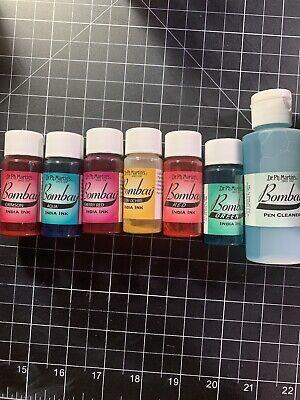 Dr Ph. Martins Bombay India Ink 24 1 Oz Bottles Plus 2 Oz Pen Cleaner