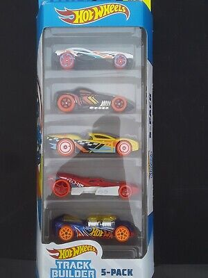 Hot Wheels Track Builder Unlimited 5 Pack Die Cast Cars NEW IN BOX!!