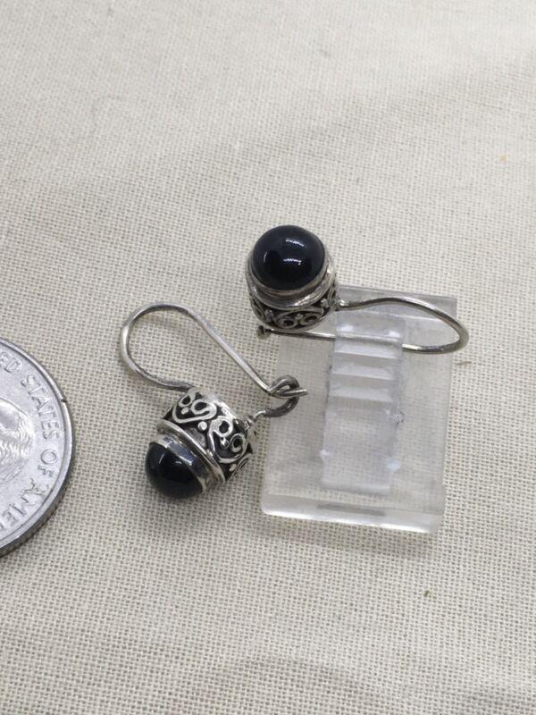 """Sterling Silver 3/4"""" VTG Dangle Earrings 3.4g (12-12)"""