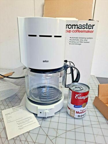 NEW vintage 1980s Braun aromaster coffee maker Kf400 10 cup white aromaster vtg