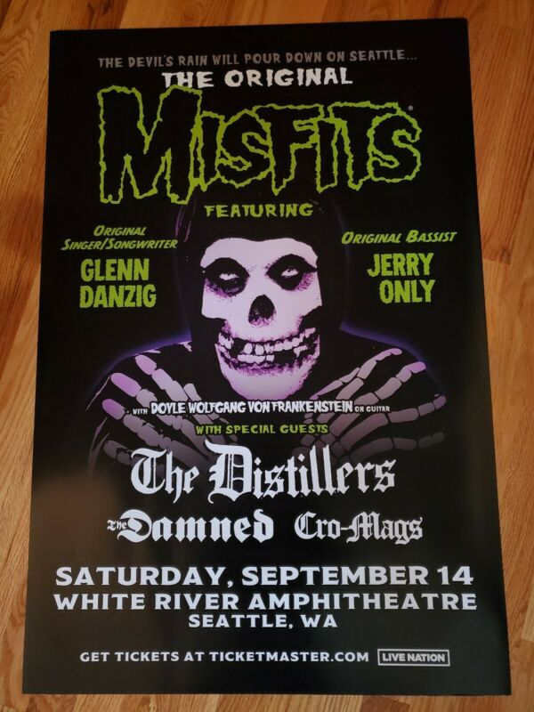 THE MISFITS - Seattle, WA 09/14/2019 Venue Announcement Poster RARE PROMO ONLY!!