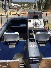 Quintrex Dory 460, Yamaha 40hp outboard with a Dunbier Trailer Alkimos Wanneroo Area Preview
