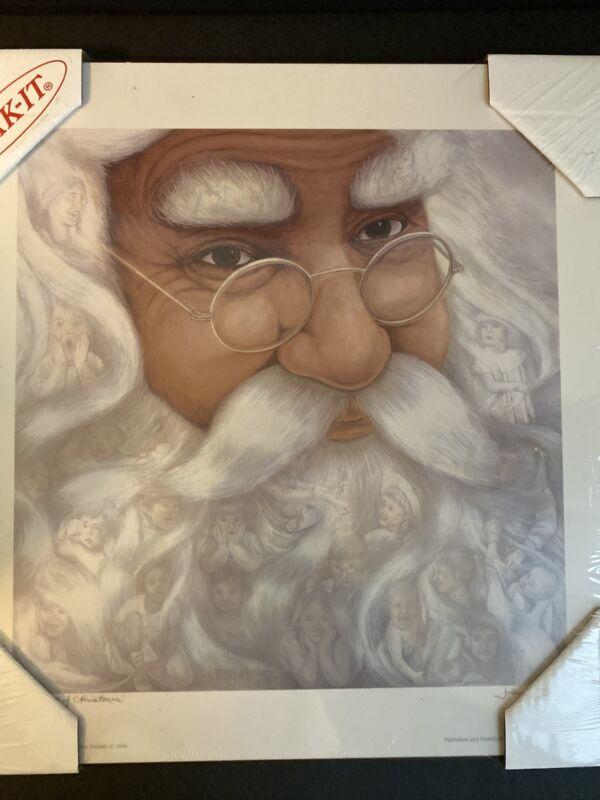 "The Spirit Of Christmas By John Mahnic Print On Plak-it Board Approx 12""x12"""