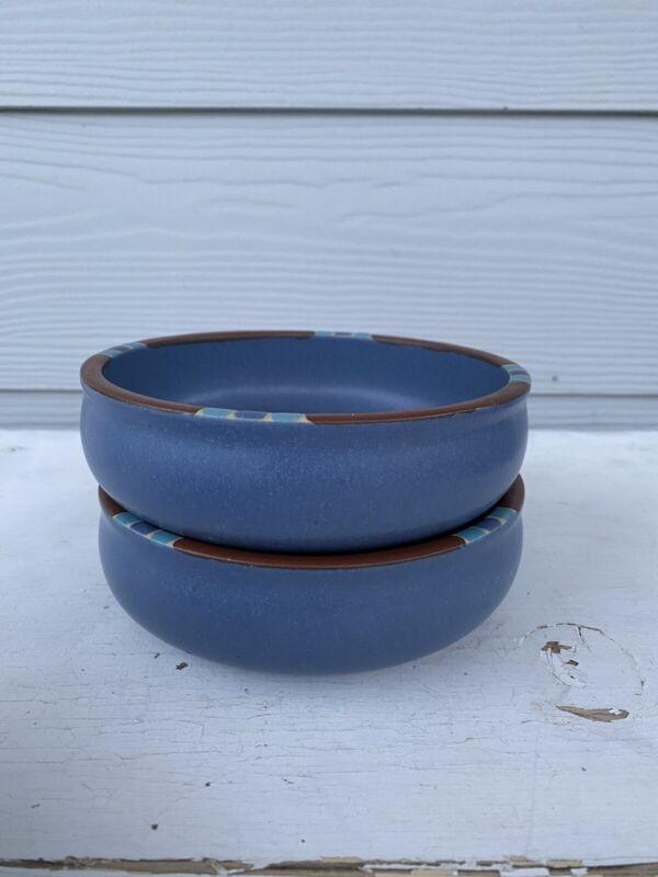 """2 DANSK Mesa Sky Blue 5 3/4"""" Soup / Cereal Coupe BOWL Portugal EUC"""