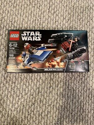 Lego Star Wars A-Wing vs TIE Silencer Microfighters 75196 Slight Box Damage