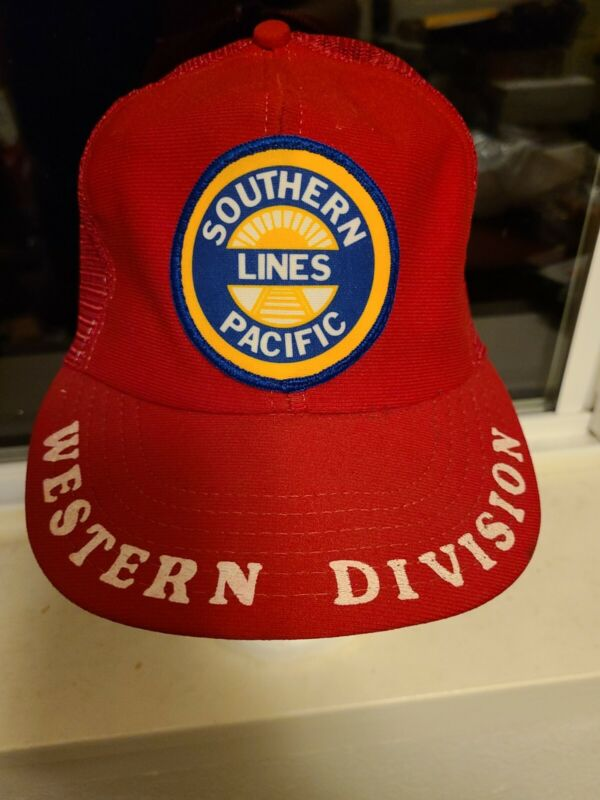 Vintage Southern Pacific Lines Railroad Truckers Hat