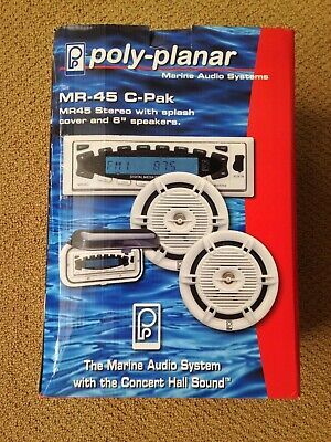 Poly Planar MR-45 C-Pack marine stereo with speakers, flip up weather cover & -