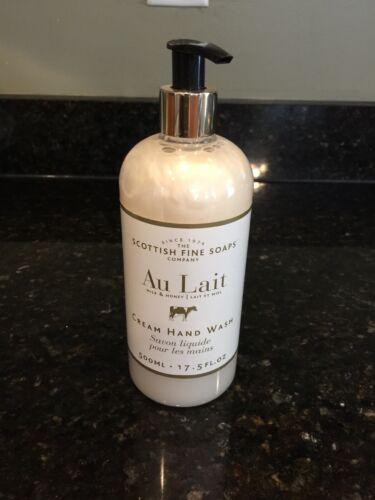 Scottish Fine Soaps AU LAIT Cream Hand Wash 17.5 oz 500 ml N