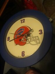 Vintage 90s NFL Football Buffalo Bills Wall Clock 1995 Marv Levy Jim Kelly