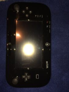 WII U WITH BLACK CONTROLLER AND 2 GAMES AND BLACK CONTROLLER