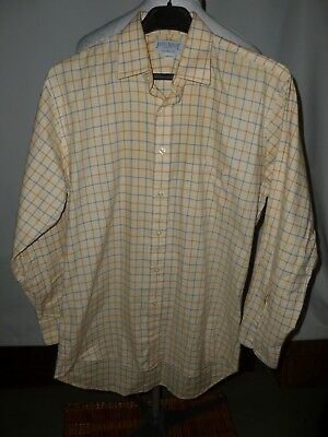 JAMES MEADE TATTERSALL BRUSHED COTTON COUNTRY CHECK  SIZE 15.5,