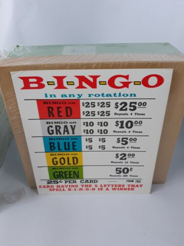 BINGO IN ANY ROTATION PULL TABS - 1640 count .25 Cents per card - REDUCED PRICE