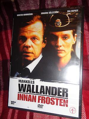 NEW SEALED DVD Mankells WALLANDER INNAN FROSTEN Krister Henriksson SWEDISH CRIME