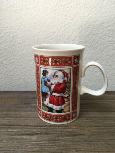 """White Christmas"" Stoneware Mug ~Dunoon Scotland ~From Original Victorian Prints"