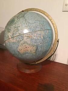 Vintage world globe Brunswick Moreland Area Preview