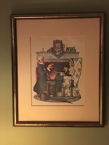 "Norman Rockwell print/painting ""Tea Time"""