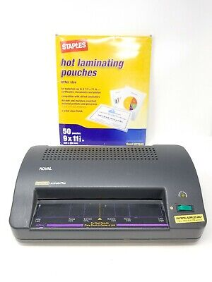 Royal Super Guard Laminator Plus With Supplies Tested Works Good