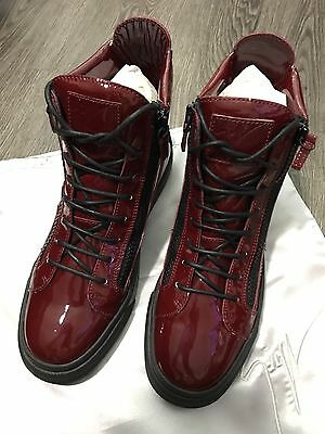 Giuseppe Zanotti Men's Burgundy Patent Sneakers Size US 9 EU 42 (AUTHENTIC) for sale  Shipping to Nigeria