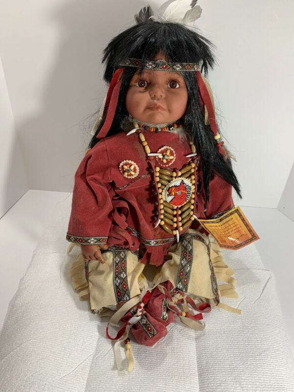 Sweet Dream Collection Porcelain Indian Doll Rare Collectible W/ Certificate