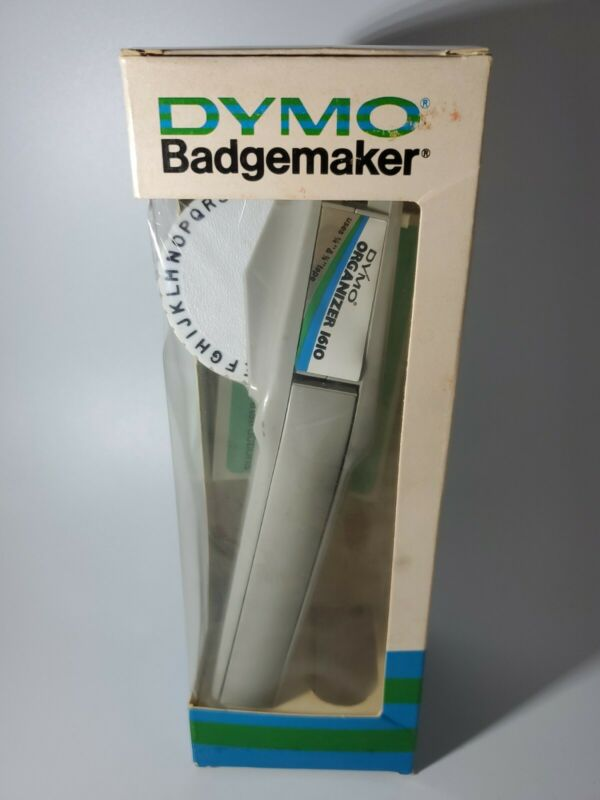 1979 Vintage Dymo Badgemaker Gray ORGINAL BOX