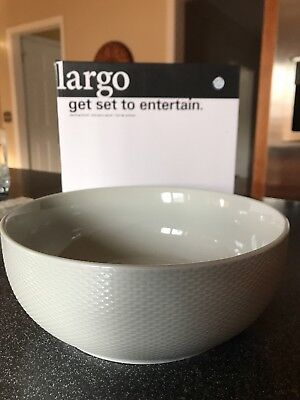 "Lenox Largo Seagrass 9.5"" All Purpose Bowl with Basket Weave Border NIB"