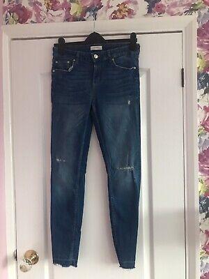 Zara Jeans With Raw Hem W28 UK10