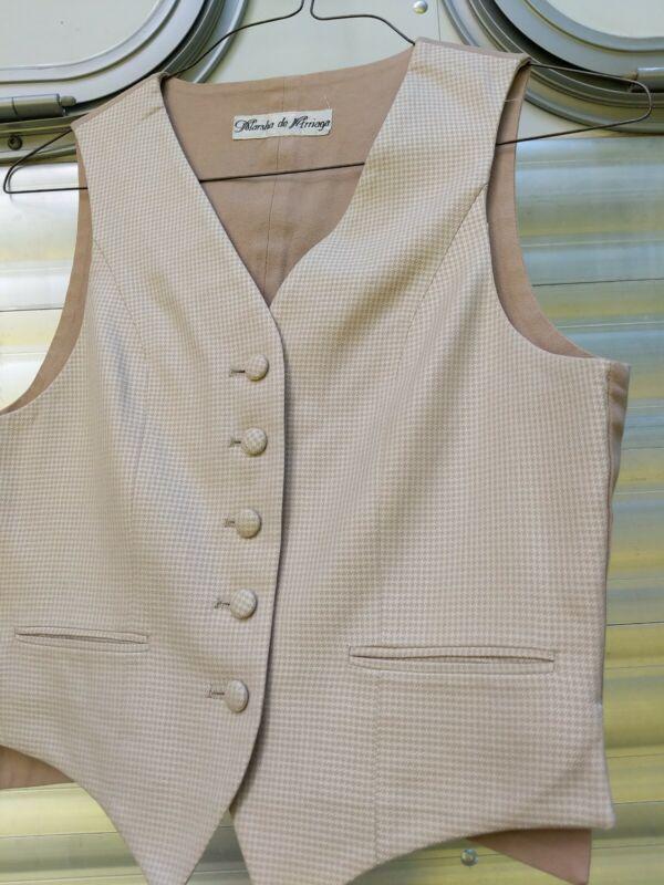 Beautiful Tan and cream Marsha de Arriaga Saddleseat Vest size 10/12