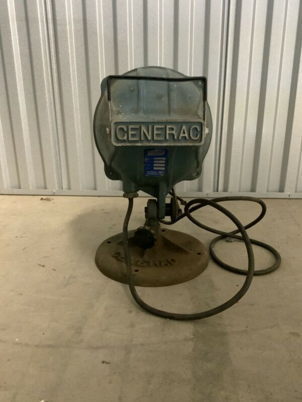 Vintage Generac Cast Iron Industrial Light With Base