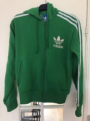 Vintage Adidas Originals Hoodie Green With Logo Mens Small VGC gyy