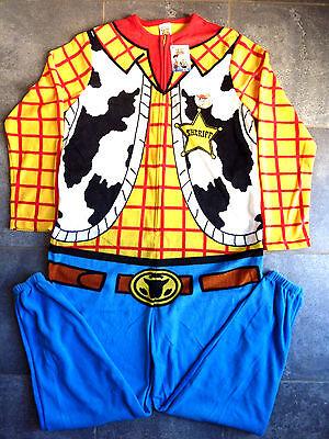 Toy Story Herren Jumpsuit Kostüm Onesie Cowboy Sheriff Woody Karneval Bunt - Woody Kostüm