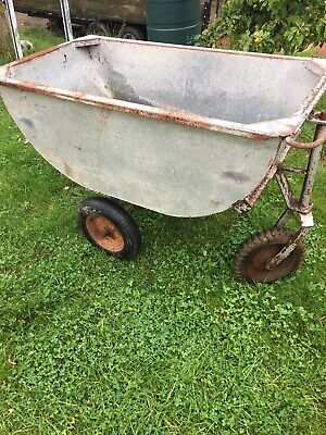 Antique Very Large Galvanised Water Trough. Barrow