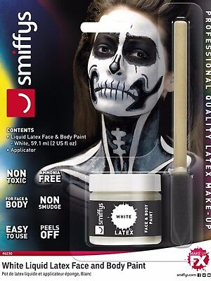 Pot Of White Liquid Latex Halloween FX Zombie Face Painting Fake Scar Make Up