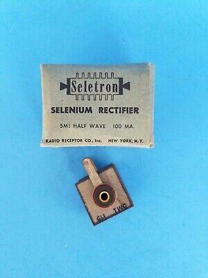 Vintage Seletron Selenium Rectifier 5m1 Half Wave 100 Ma 5m1 H9