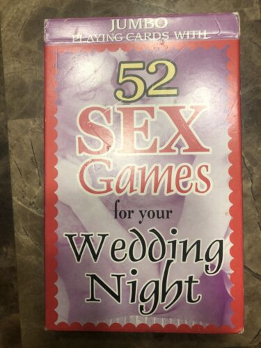 52 SEX GAMES FOR YOUR WEDDING NIGHT JUMBO PLAYING CARDS GAME