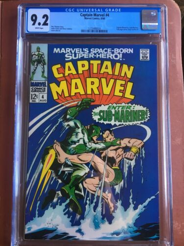 Captain Marvel 4 CGC 9.2 White Marvel Silver Key Stan Lee SWEET Original Owner