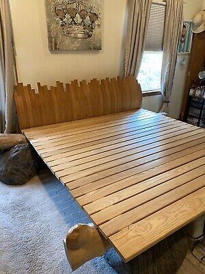 Log Style Platform Bed Rustic Ash Walnut King Size Frame Log Cabin Cottage Lodge Cottage Style Bed