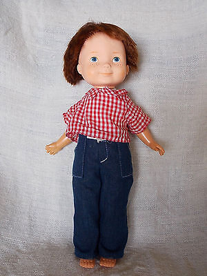 "Fisher Price My Friend Mikey 15"" Boy Doll Freckles Red Hair Blue Eyes Cloth Body"