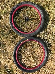 BMX RIMS AND RUBBER