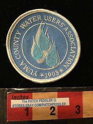 YUMA COUNTY WATER USERS ASSOCIATION 1903 ARIZONA PATCH Water Drip H2O 63G2