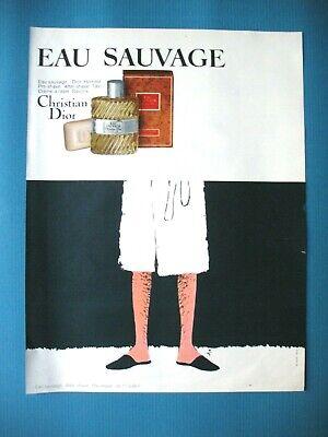 PUBLICITE DE PRESSE DIOR EAU SAUVAGE SAVONS AFTER SHAVE ILLUSTRATION GRUAU 1967 segunda mano  Embacar hacia Spain