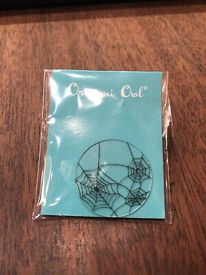 Origami Owl Halloween Large Spider Web Clear Glass Plate HTF &
