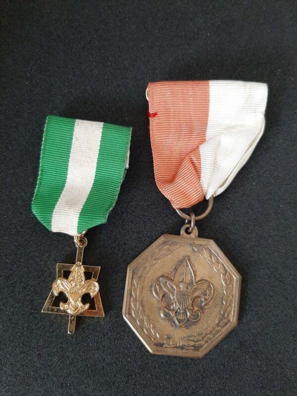 Vintage Boy Scout  AWARD MEDALS (2)