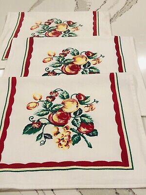 REPRODUCTION Vintage 1930's-1940's Cotton Kitchen Towels - LOT OF 3