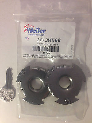 Weiler Wheel Adapter 2 Center Hole Reducer To 58 Arbor Shaft For Wire Wheel