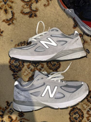 New Balance 990v4 Grey Running Shoes Men 10 D M990GL4 Made in USA 3M