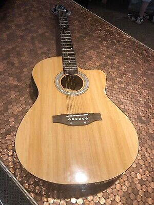 Stagg Handmade Acoustic Guitar SWA6CETU-N With Padded Case