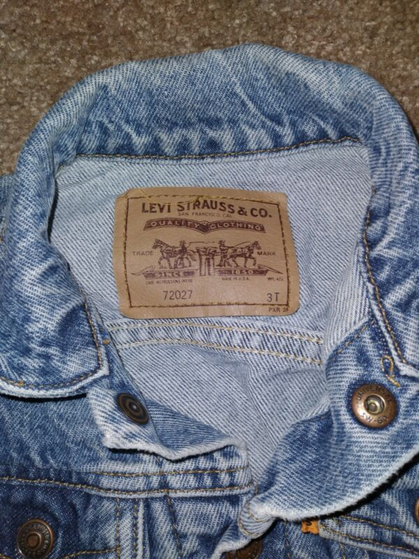 VTG Toddler Kids LEVIS Denim BLUE JEAN JACKET 3T